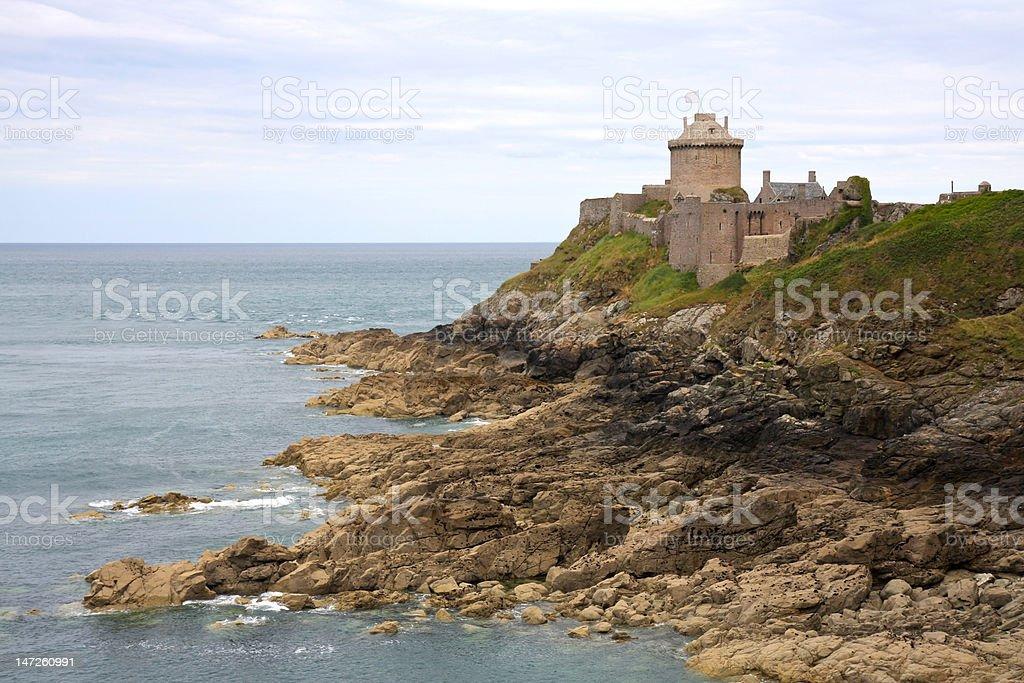 Castle: Fort la Latte royalty-free stock photo
