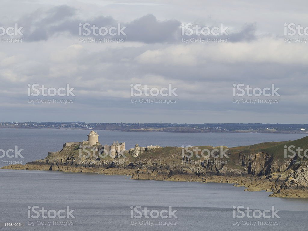 Castle Fort la Latte royalty-free stock photo