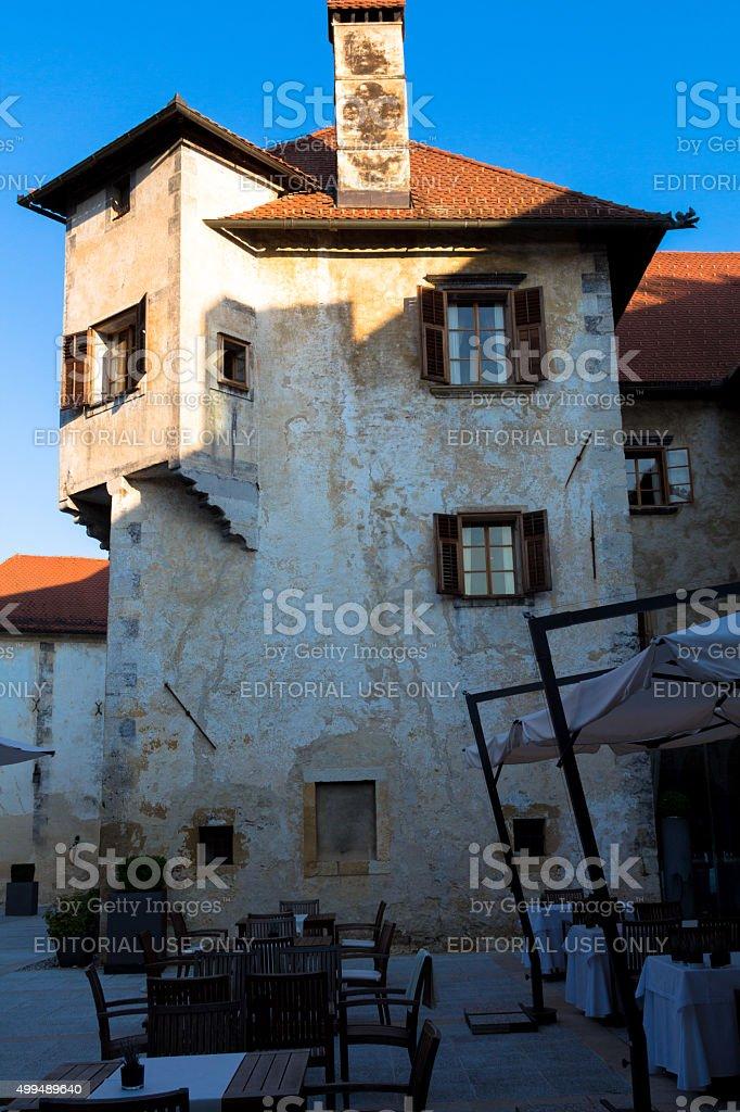 Castle fragment. stock photo