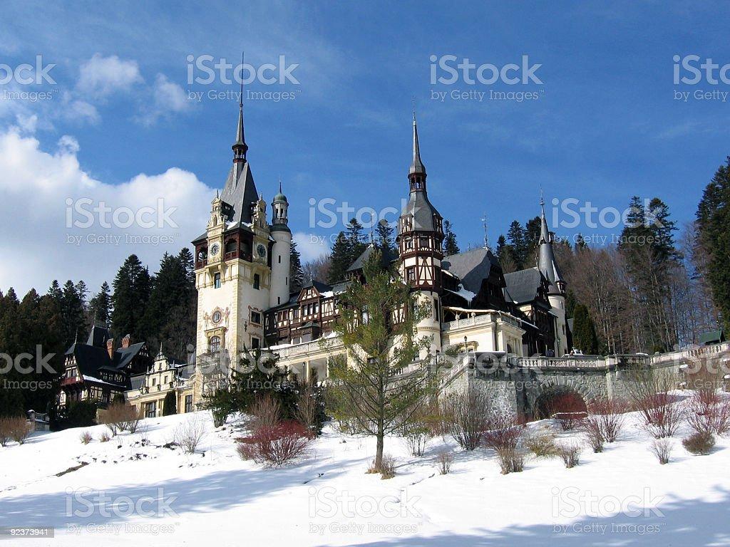 Castle from Sinaia, Romania stock photo