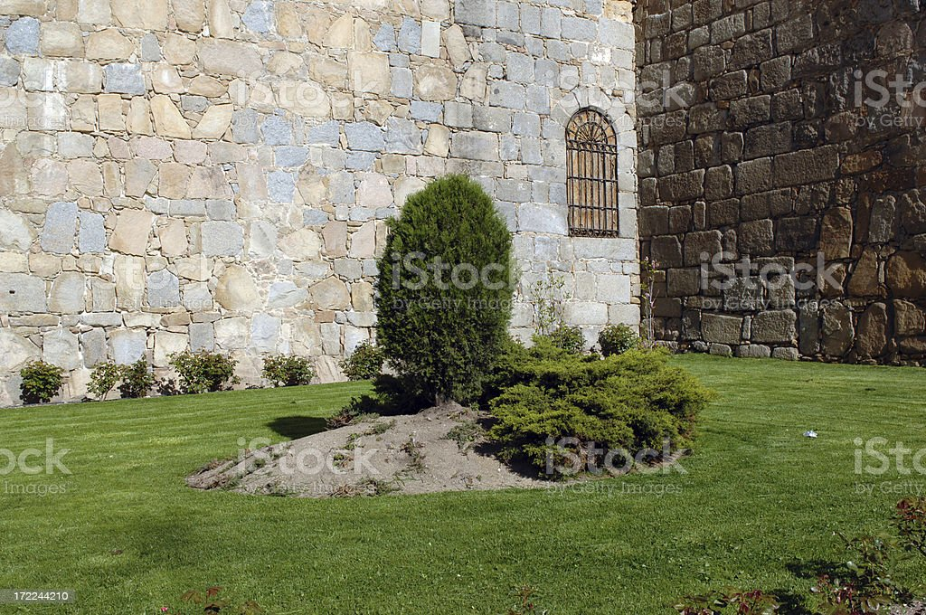 Castle garden royalty-free stock photo