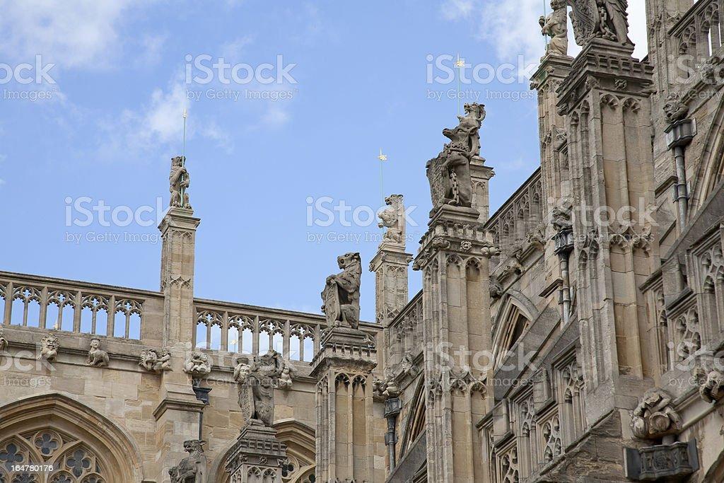 Castle Gargoyles royalty-free stock photo