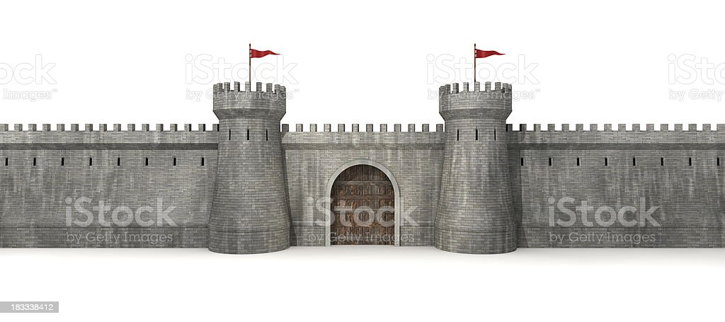 Castle Gate stock photo
