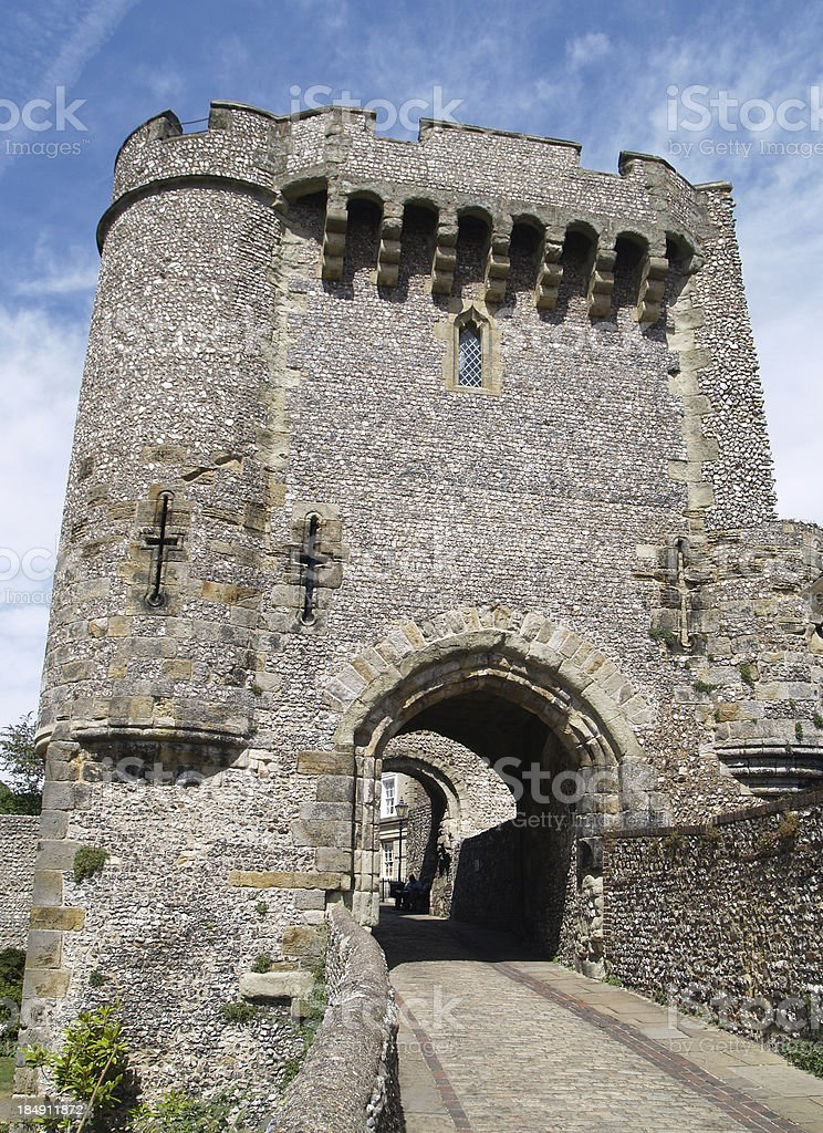 Castle Gate royalty-free stock photo