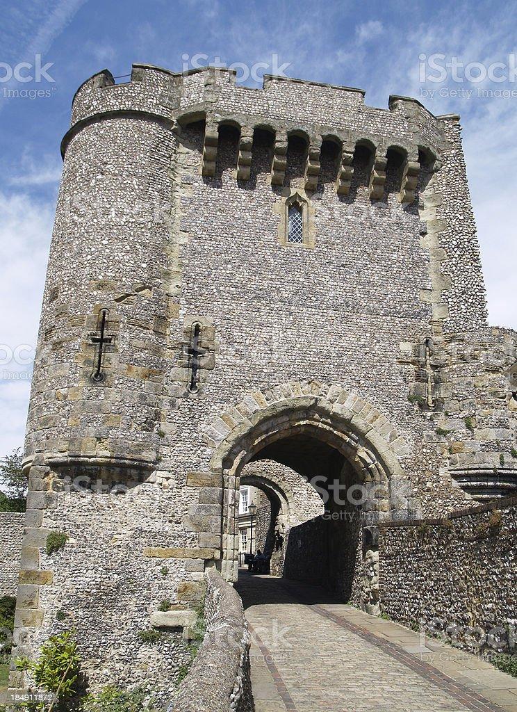 Castle Gate stock photo