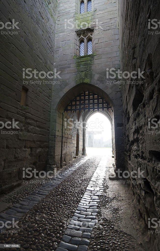 Castle Gatehouse stock photo