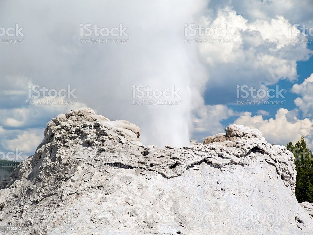 Castle Geyser primo piano foto stock royalty-free
