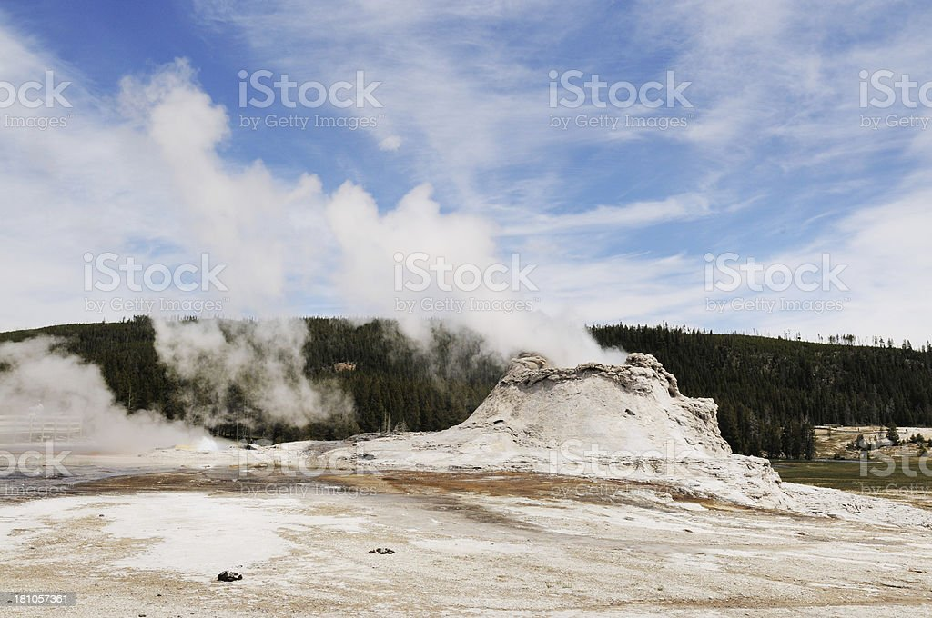 Castle Geyser Thermal Feature in Yellowstone National Park royalty-free stock photo