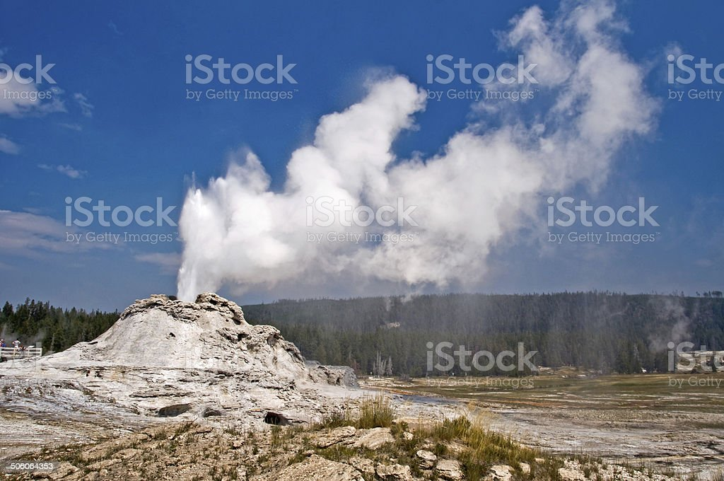 Castle geyser, Yellowstone national park, USA stock photo