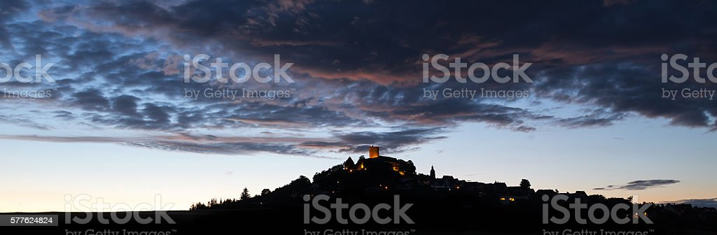 castle gleiberg hessen germany in the evening stock photo