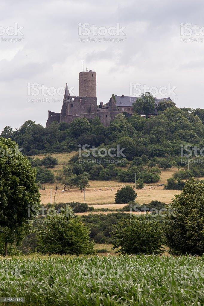 castle gleiberg hessen germany stock photo