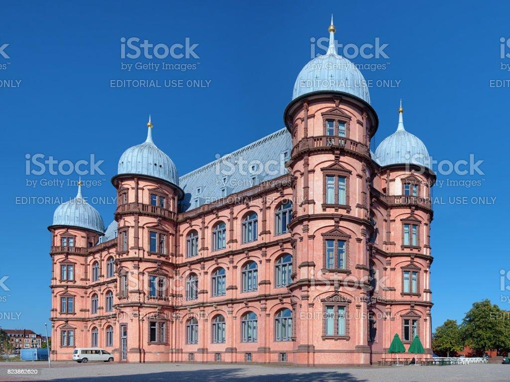 Castle Gottesaue in Karlsruhe, Germany stock photo