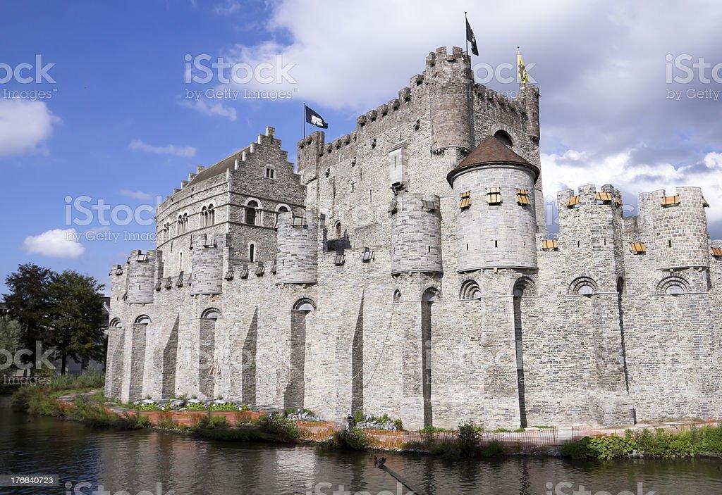 Castle Gravensteen in Ghent Belgium stock photo