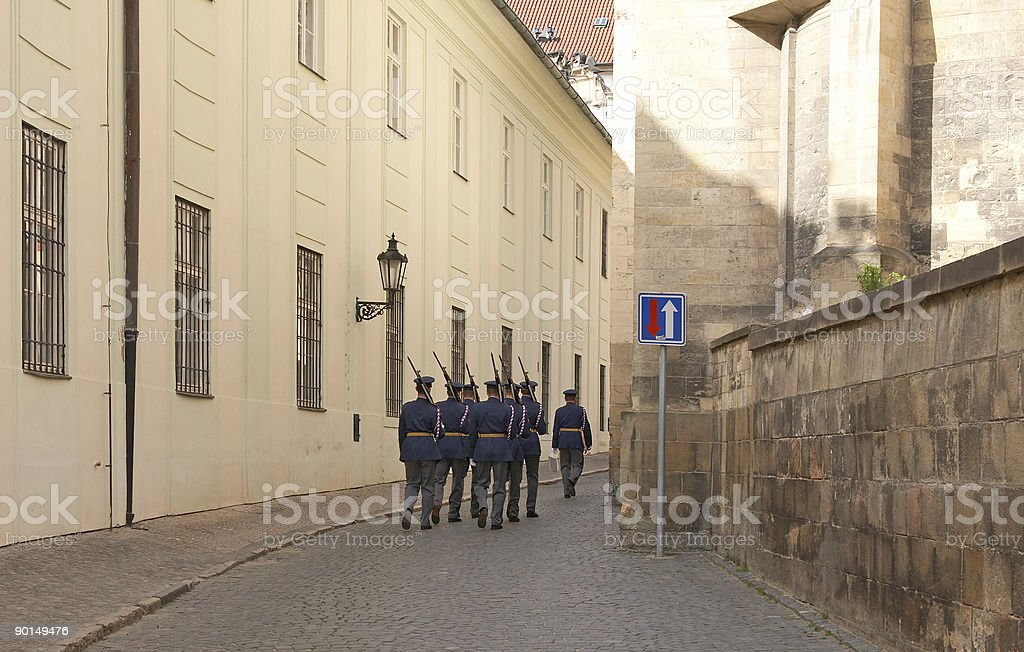 Castle guard royalty-free stock photo