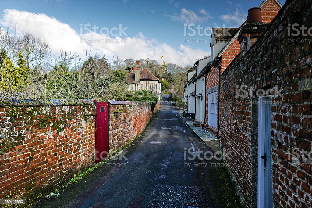 Castle Hedingham. stock photo