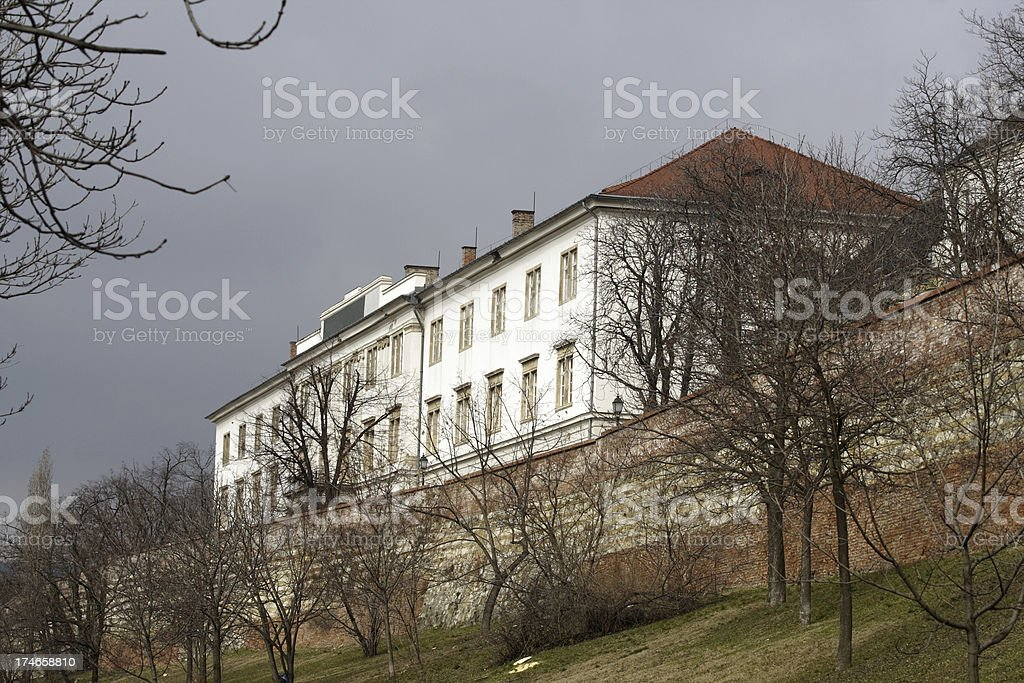 Castle hill in Budapest royalty-free stock photo