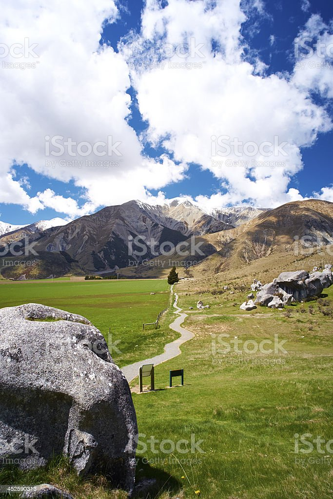 Castle Hill Landscape On New Zealand's South Island royalty-free stock photo
