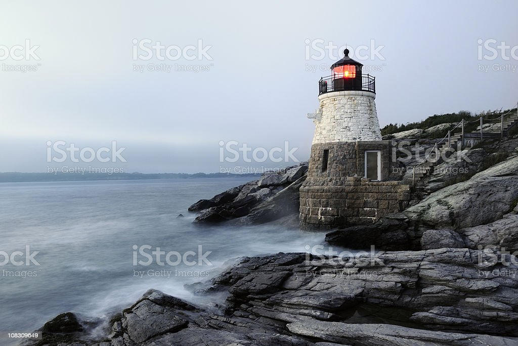 Castle Hill Lighthouse, Newport Rhode Island royalty-free stock photo