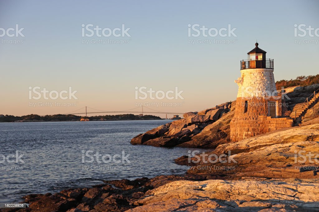 Castle Hill Lighthouse stock photo