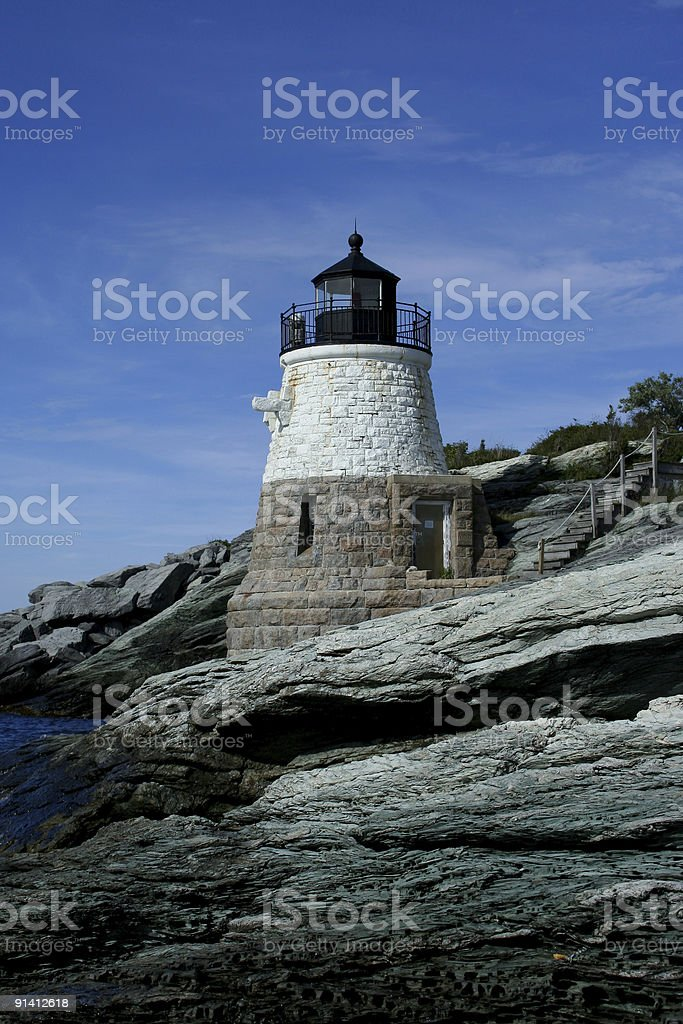 Castle Hill Lighthouse royalty-free stock photo