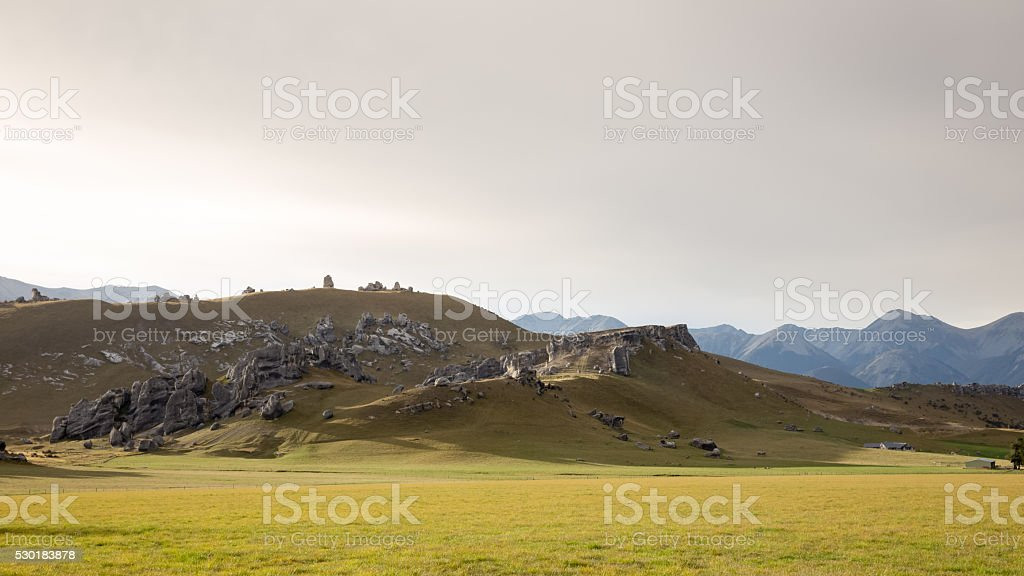 Castle hill, New Zealand stock photo