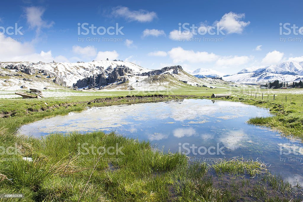Castle Hill, New Zealand travel attraction stock photo