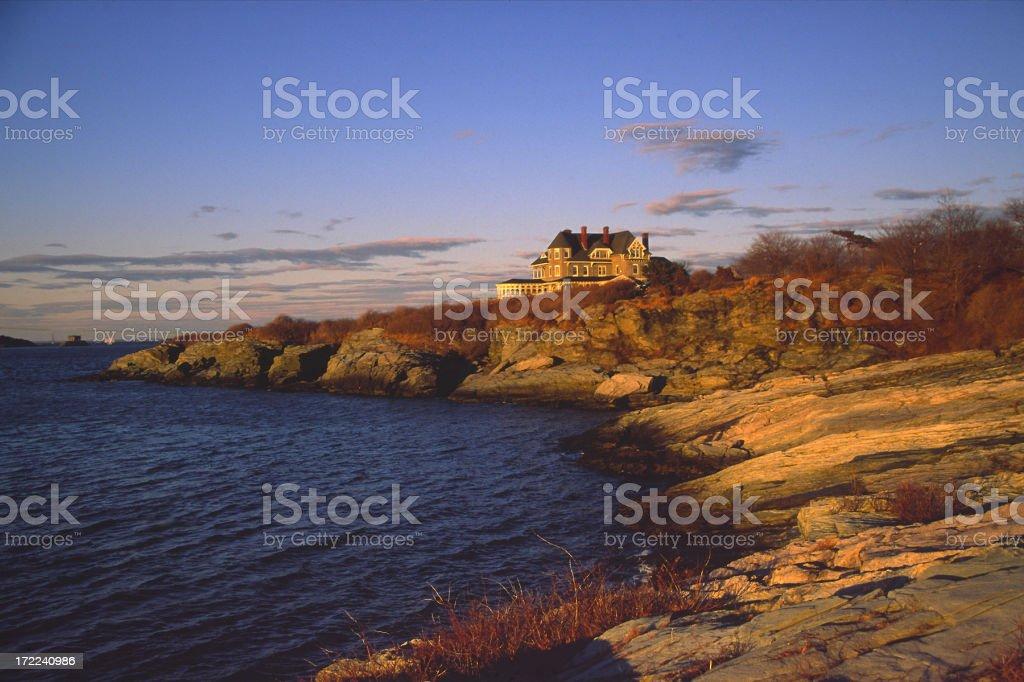 Castle Hill Newport stock photo
