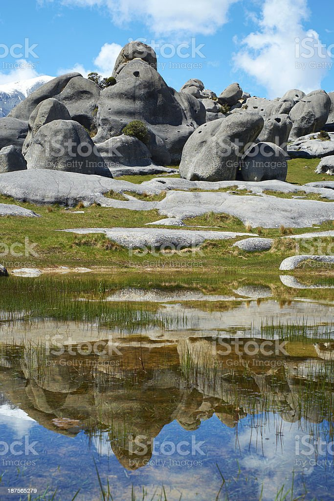 Castle Hill On New Zealand's South Island royalty-free stock photo