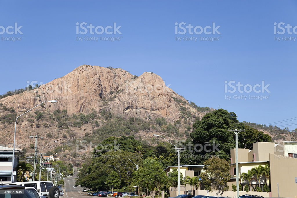 Castle Hill Townsville Queensland with blue sky copyspace royalty-free stock photo