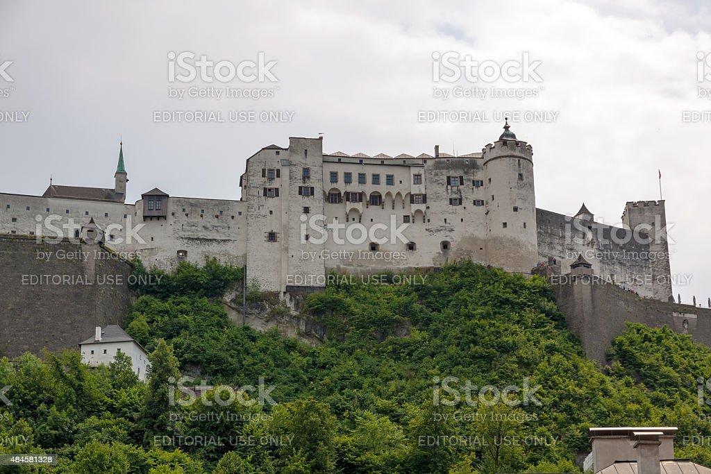 Castle Hohensalzburg, Salzburg, Austria stock photo