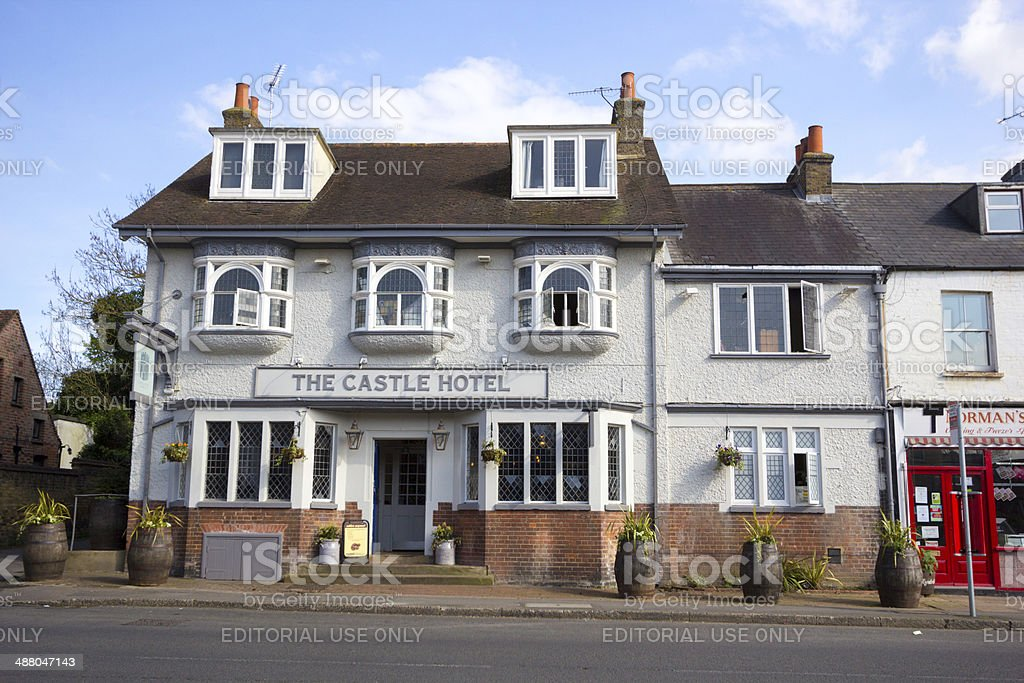 Castle Hotel in Eynsford, England stock photo