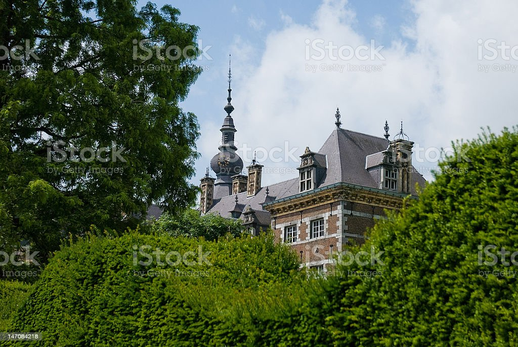 Castle in a green environment stock photo