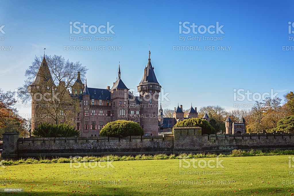 Castle in autumn. stock photo