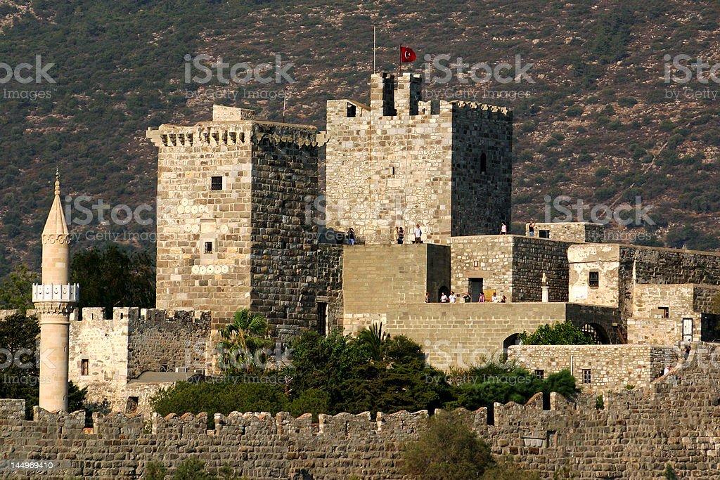 Castle in Bodrum stock photo