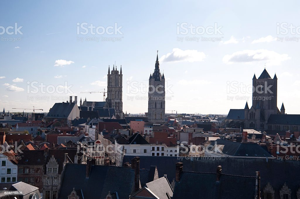 castle in ghent stock photo