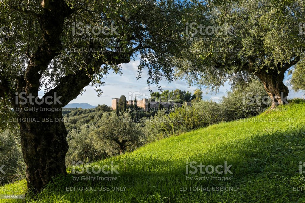 Castle in Greece stock photo