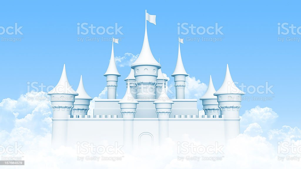 Castle in heaven royalty-free stock photo