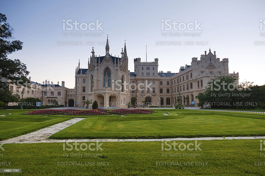 Castle in Lednice royalty-free stock photo