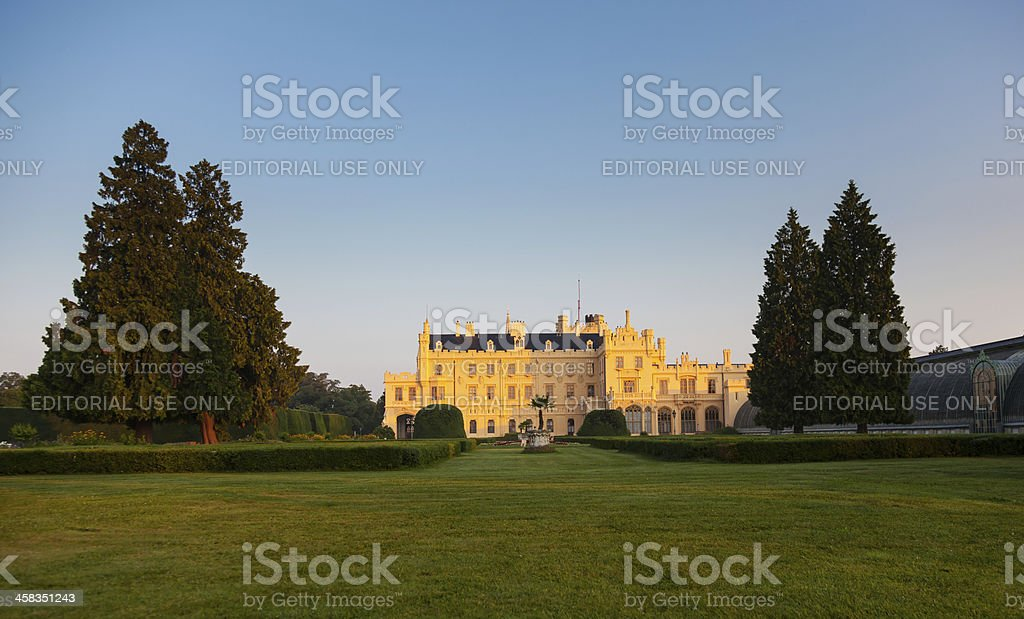 Castle in Lednice royalty-free stock photo