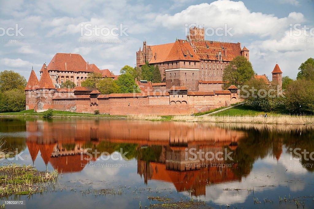Castle in Malbork, Poland. stock photo
