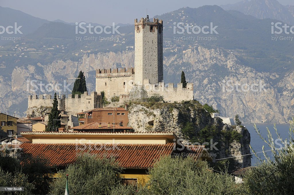 Castle in Malcesine stock photo
