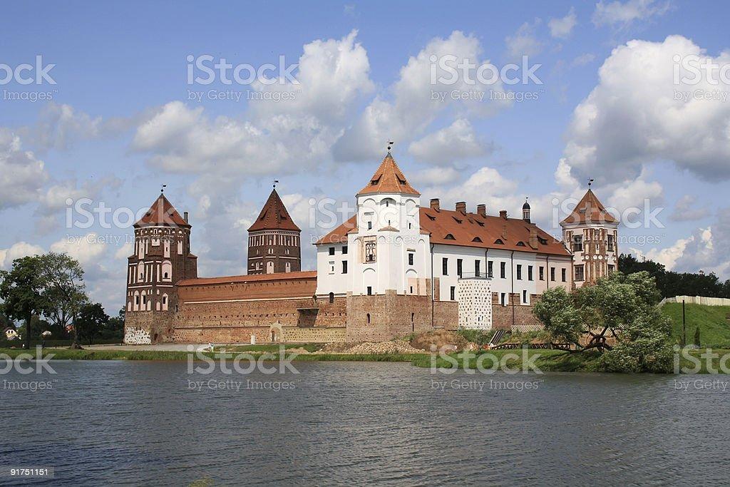 Castle in Mir stock photo