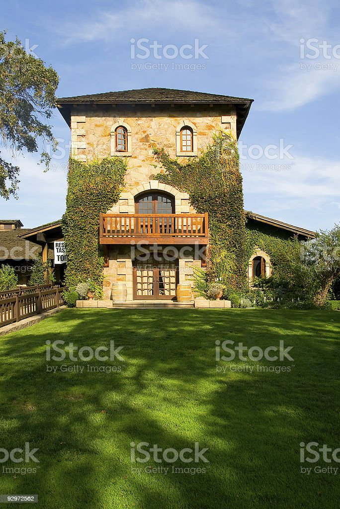 Castle in Napa Valley royalty-free stock photo