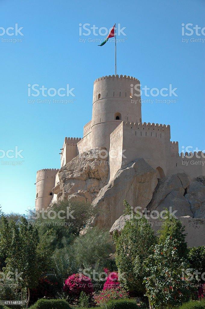 castle in Oman stock photo