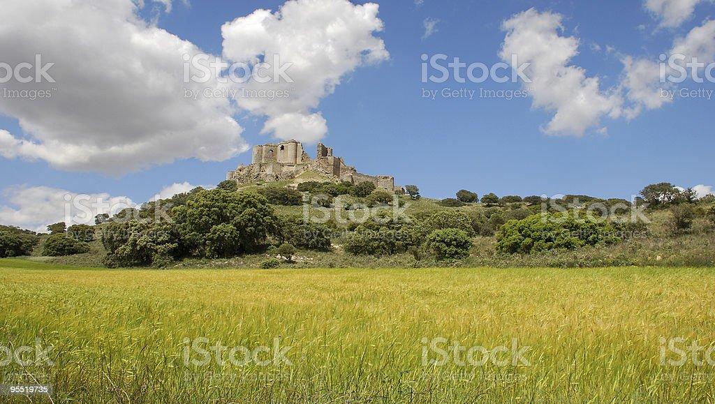 En ruinas del castillo - foto de stock
