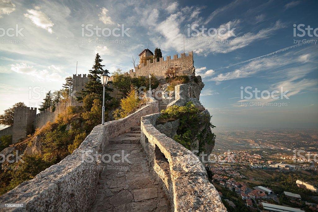 Castle in San Marino royalty-free stock photo