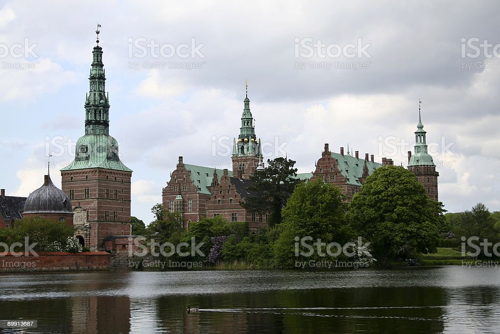Castle in Scandinavia stock photo