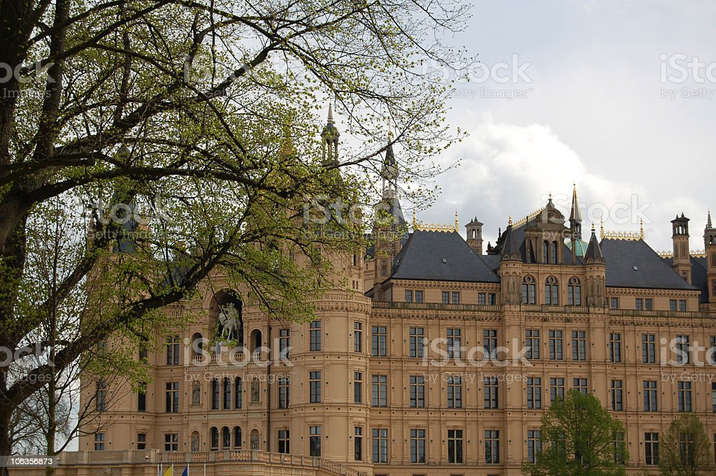 Schloss in Schwerin (Germany) stock photo