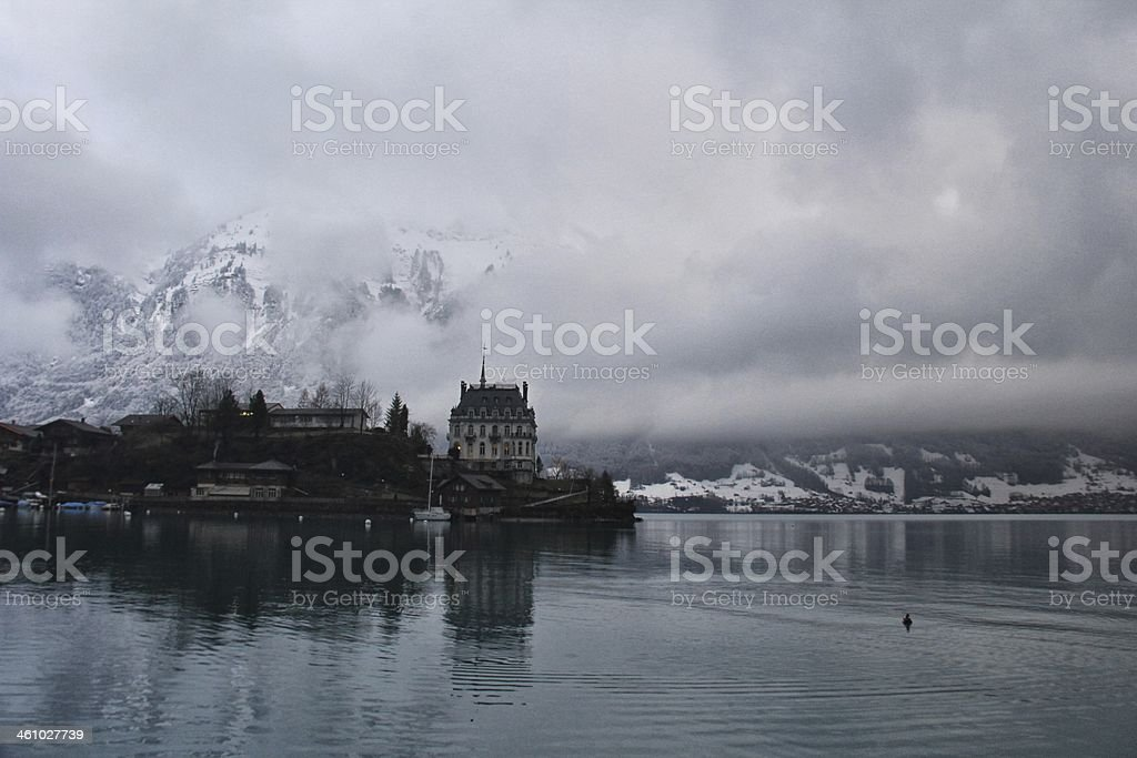 Castle in Switzerland stock photo