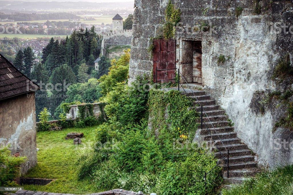 Castle in the Alps stock photo